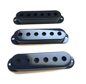 Caches Micro Stratocaster Noir Pickup Covers Stratocaster Black 52mm