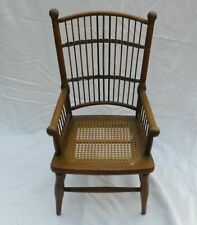 Antique 19th C Dolls Childs Oak Stick & Ball Chair Excellent