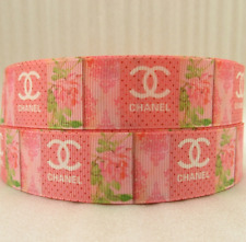 "1"" (25mm)  Printed Grosgrain Ribbon  - By The Meter -  #4700 Pink Rose"