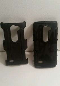 LG L22C Two Part Rugged Replacement Phone Case with Stand
