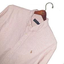 Men's POLO RALPH LAUREN Premium Vintage Oxford Cotton Striped Shirt Size XL-XXL