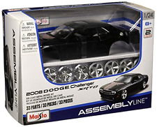 Scale Assembly Line Dodge Challenger Diecast Model Kit Car Toy Vehicle Hobby Fun