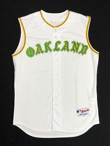 Oakland Athletics Majestic 2018 TBTC 1968 Jersey Vest Size 46 A's On Field NWOT