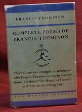 Modern Library #38 POEMS OF FRANCIS THOMPSON 1929 Rare Binding with Jacket