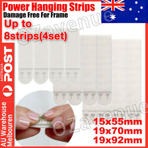 3M Command Picture Hanging Strips Damage Free SMALL MEDIUM LARGE AU Post