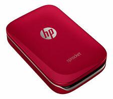 HP Sprocket Photo Printer – Red Special Edition Z3Z93A Brand New