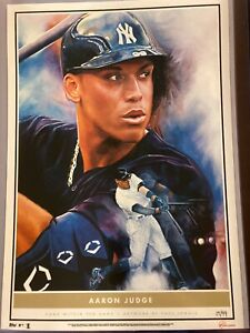 2020 Topps Game Within The Game #1 Aaron Judge Fine Art Print 10x14 #d 17/99
