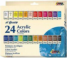 KREUL Acrylfarbe Malfarben Künstlerfarben el Greco Tuben deckend 12ml 24er-Set