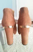 Michael Kors brown suede platform heels 8