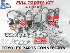 GENUINE TOYOTA OEM 3.4 LITER 5VZFE V6 COMPLETE 44pcs TIMING BELT &  PUMP KIT