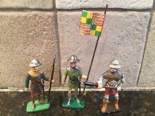 Toy Soldiers 3 Metal 54mm Medieval Men-at-Arms
