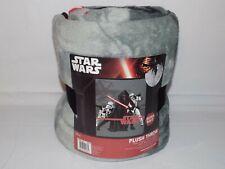 """Star Wars Kylo Ren Plush Fleece Throw Blanket 50""""x 60"""" Super Soft"""