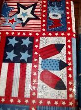 New Tablecloth Patriotic 4th July Stars USA Firecrackers 52 x 70 Vinyl PVC Free