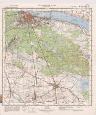 Russian Soviet Military Topographic Map – WLOCLAWEK (Poland), 1:50 000, ed. 1985