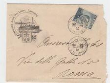 13393- Navigazione, Hamburg- Amerika  linie, busta per Roma, 1917