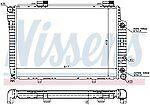 Brand New Radiator Nissens 62756A DPI #2068