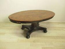 Tavolo basso da salotto -  metà '800  -tavolino - noce, radica ed intarsiato