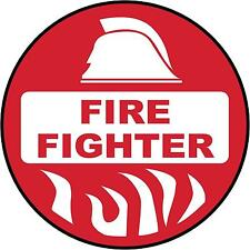 Hard Hat Fire Fighter Sticker Sign Decal 50mm Public Safety WHS OHS