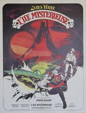 """""""L'ILE MYSTERIEUSE"""" Affiche originale entoilée (Jules VERNE / Omar SHARIF)"""