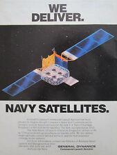 11/1989 PUB GENERAL DYNAMICS CLS ATLAS HUGHES AIRCRAFT US NAVY UHF SATELLITE AD