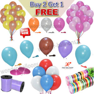 "30X 12"" Latex PLAIN BALLOONS BALLONS helium Quality Party Wedding Colour BALOONS"
