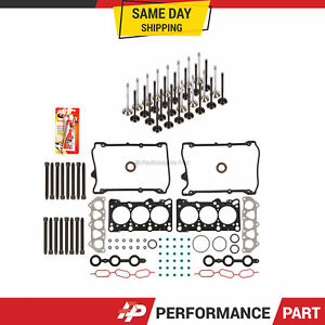 Head Gasket Set Intake Exhaust Valves for 98-05 Volkswagen Passat Audi 2.8L DOHC