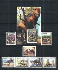 ABCHAZIA RUSSIA GEORGIA 1993 BLOCK SET PREHISTORIC ANIMALS FAUNA DINOSAURS **