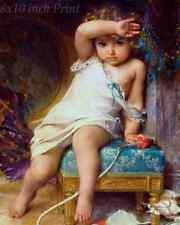 The Broken Vase by Emile Munier - Sad Girl Child Toys 8x10 Print Picture 1564