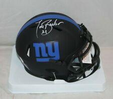 Tiki Barber New York Giants Signed Autographed Eclipse Mini Helmet JSA 1