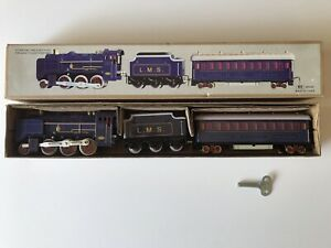 Classic Collector Train LMS MS440 Railway Clockwork Wind Up Tin Toy ~ BRAND NEW