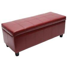 Sitzbank Arezzo LEDER, 112x45x45cm, rot