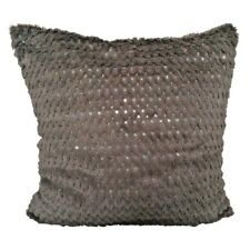 "Faux Fur Smoked Olive Sequin Embriodery 18x18"" Throw Pillow Case / Cushion Cover"