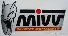 MIVV EXHAUST SILENCER LOGO BADGE STICKER HIGH TEMP RESISTANT RACING BIKE
