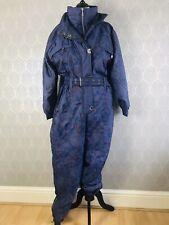 Vintage Retro 80's Ski Street Purple Ski Trouser Suit Size 14