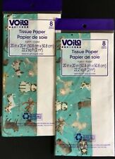 Voila Puppies And Kitties Gift Tissue Paper, w/White, 20� X 20�- 2 Packs Of 8