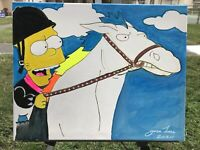 original art for sale by artist Homer Simpson Glow Details