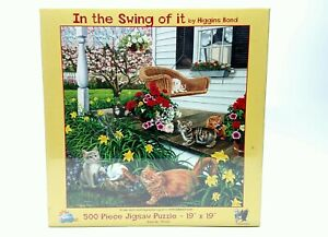 In The Swing Of It Higgins Bond 500 Piece Jigsaw Puzzle SunsOut New Cats