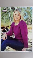 Heirloom Knitting Pattern #433 to Knit Ladies Jumper in 12 Ply Gypsie Yarn