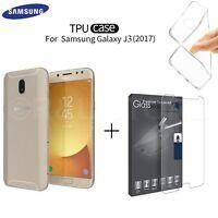 Coque Étui En TPU pour Samsung Galaxy J3 2017 +Film Dans Verre Trempé