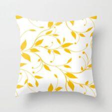 Leaf Yellow Pillow Case Sofa Car Waist Throw Cushion Cover Home Decor