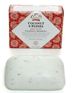 ONE BAR 5 OZ- Nubian Heritage- Coconut & Papaya Soap