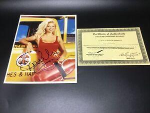 SIGNED 8x10 PHOTO + COA  Pamela Anderson C.J. Parker  [Baywatch 1989] TV Show