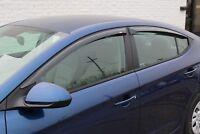 2017 - 2020 Slim Tape-on Vent Visors for a Hyundai Elantra