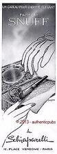 PUBLICITE SCHIAPARELLI SNUFF PARFUM HOMME PIPE GUERY COLAS DE 1940 FRENCH AD PUB