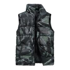 Winter Men Thick Warm Vest Padded Cotton Quilted Sleeveless Jacket Waistcoat New