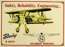 Boeing Kadet-Stearman Trainers Vintage Aviation Metal Sign