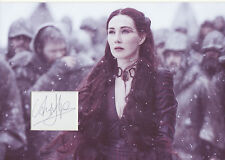 CARICE VAN HOUTEN Signed 12x8 Photo MELISANDRE In GAME OF THRONES COA