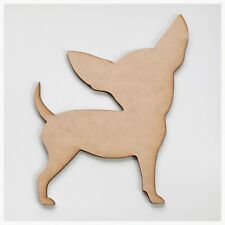 Chihuahua Dog Pet Paw Plain Raw Cut Out Timber MDF Craft Art DIY Raw Wooden