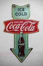 "Coca-Cola Metal ""Ice Cold"" Arrow Sign - BRAND NEW"