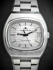 Jaeger LeCoultre Master-Quartz 23302-42 Vintage Elegant Steel Men's Watch 1972